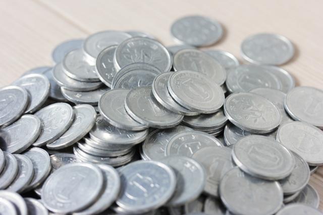 大量の1円玉