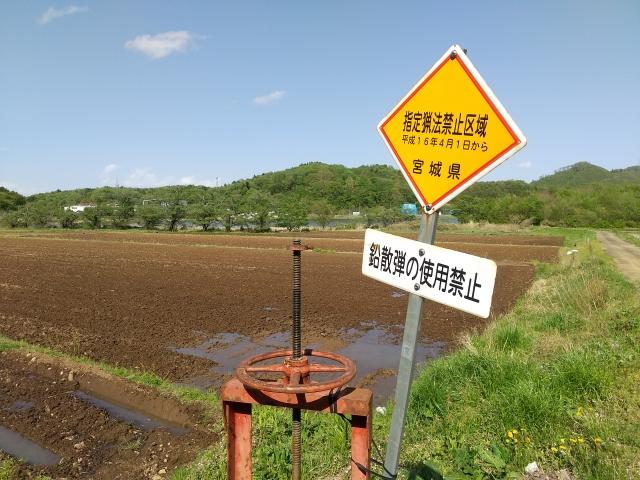指定猟法禁止区域の標識
