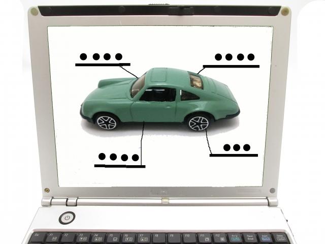 自動車のプラモデルを出品